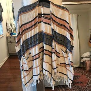 UO poncho inspired kimono